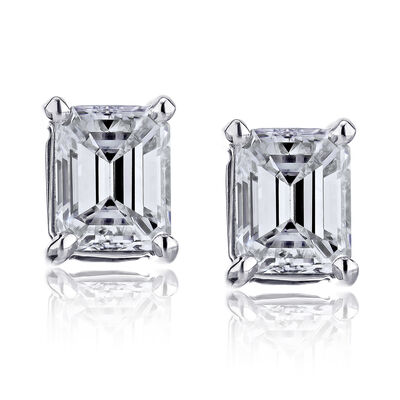 .95 ct. t.w. Certified Diamond Stud Earrings in Platinum, , default