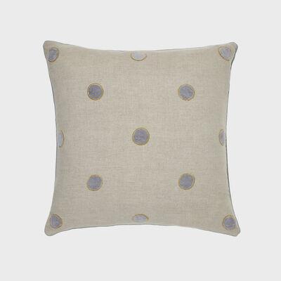 Joanna Buchanan Gray Linen Velvet Dot Pillow, , default