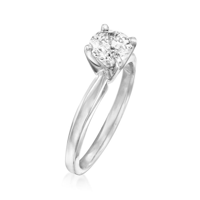 1.00 Carat Diamond Solitaire Ring in 14kt White Gold
