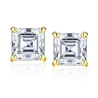 2.90 ct. t.w. Diamond Stud Earrings in 14kt Yellow Gold, , default