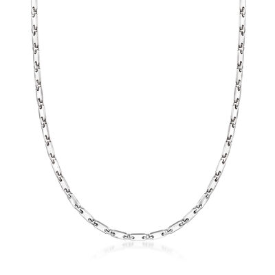 C. 1990 Vintage Cartier 18kt White Gold Link Necklace