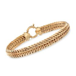 "14kt Yellow Gold Double Curb-Link Bracelet. 7"", , default"