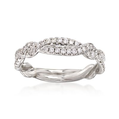.47 ct. t.w. Diamond Twisted Ring in 14kt White Gold