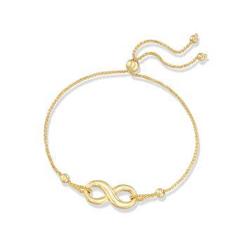 14kt Yellow Gold Infinity Symbol Bolo Bracelet , , default