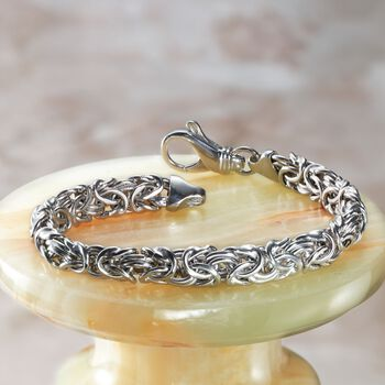 Sterling Silver Small Byzantine Bracelet, , default