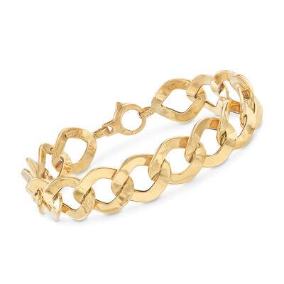 Italian 18kt Yellow Gold Link Bracelet, , default