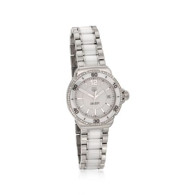 TAG Heuer Formula 1 Women's .35 ct. t.w. Diamond Watch in Stainless Steel and White Ceramic, , default