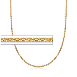Italian 2mm 14kt Yellow Gold Popcorn Chain Necklace, , default