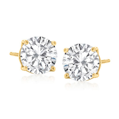 2.25 ct. t.w. Diamond Stud Earrings in 14kt Yellow Gold