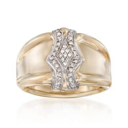 .24 ct. t.w. Diamond Shield Ring in 14kt Yellow Gold, , default