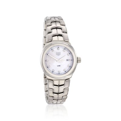 TAG Heuer Link Women's 32mm .12 ct. t.w. Diamond Watch in Stainless Steel With Mother-Of-Pearl Dial, , default