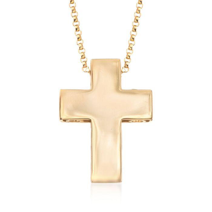 """Roberto Coin """"Pois Moi"""" 18kt Yellow Gold Cross Pendant"""