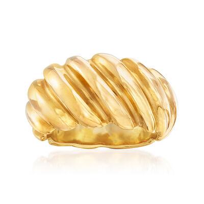 C. 1990 Vintage 18kt Yellow Gold Shrimp Ring, , default