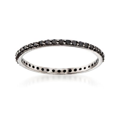 .33 ct. t.w. Black Diamond Eternity Band in 14kt White Gold, , default