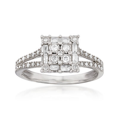 .40 ct. t.w. Diamond Ring in Sterling Silver, , default