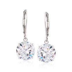 7.00 ct. t.w. CZ Drop Earrings in 14kt White Gold, , default