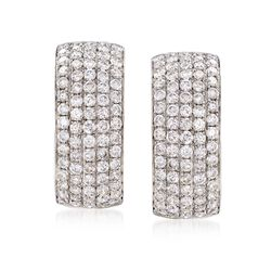 2.75 ct. t.w. Diamond Curved Earrings in 18kt White Gold, , default
