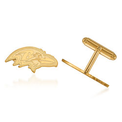 14kt Yellow Gold NFL Baltimore Ravens Cuff Links, , default