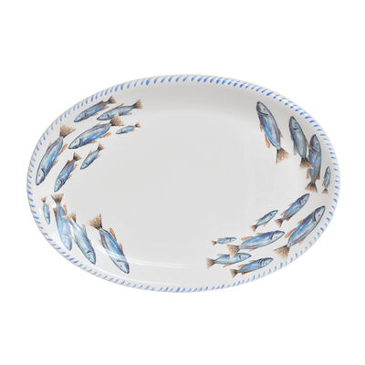 Abbiamo Tutto Italian School of Fish Ceramic Serving Platter, , default