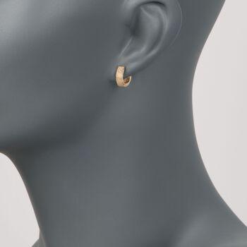 """Roberto Coin """"Symphony"""" 18kt Yellow Gold Huggie Hoop Earrings. 3/8"""" , , default"""