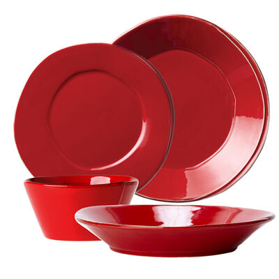 "Vietri ""Lastra"" Red Dinnerware from Italy, , default"
