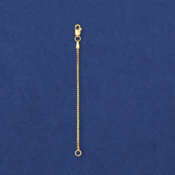1.1mm 14kt Yellow Gold Box Chain Extender, , default