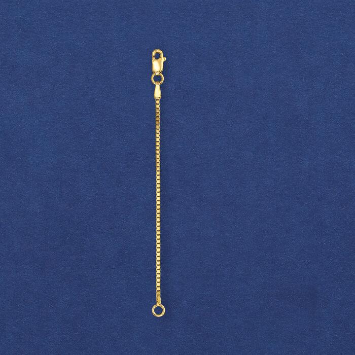 1.1mm 14kt Yellow Gold Box Chain Extender
