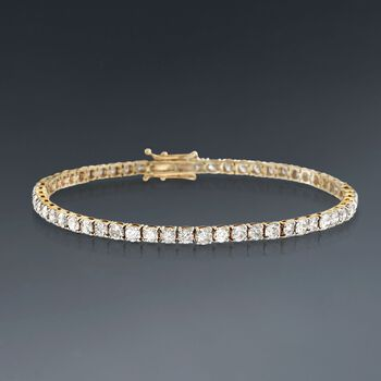 6.00 ct. t.w. Diamond Tennis Bracelet in 14kt Yellow Gold, , default