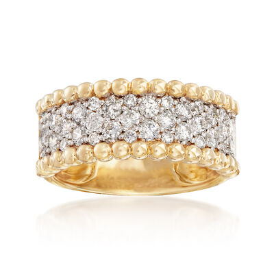 1.00 ct. t.w. Diamond Wide Ring in 14kt Yellow Gold