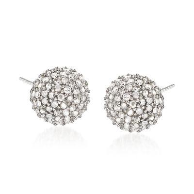 1.00 ct. t.w. Diamond Stud Earrings in Sterling Silver, , default