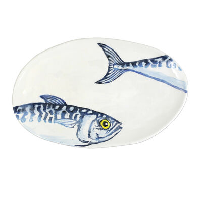"""Vietri """"Macarello"""" Small Oval Platter from Italy"""