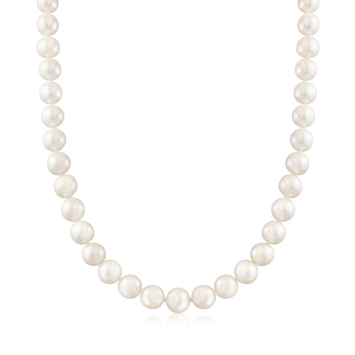 9-10mm Cultured Pearl Necklace with 14kt Yellow Gold, , default