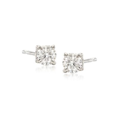 .33 ct. t.w. Diamond Stud Earrings in 14kt White Gold, , default