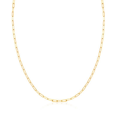 3-In-1 Italian 18kt Gold Over Sterling Paper Clip Link Necklace, Mask Holder and Eyeglass Chain
