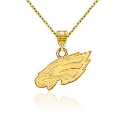"14kt Yellow Gold NFL Philadelphia Eagles Pendant Necklace. 18"", , default"