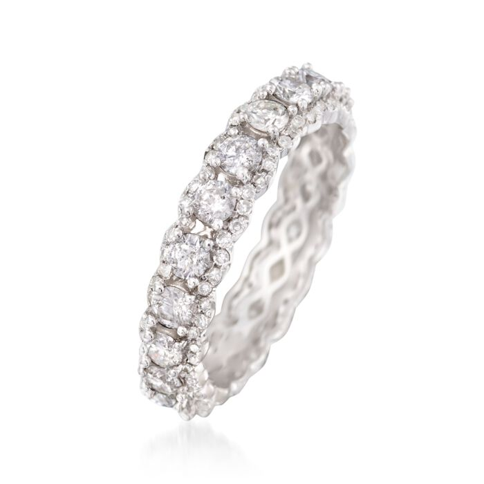 2.02 ct. t.w. Diamond Eternity Band in 14kt White Gold