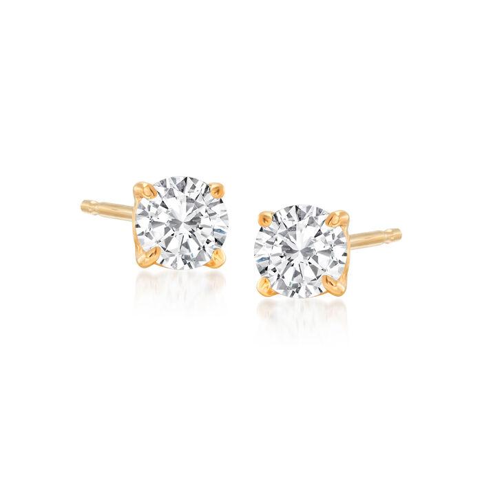 .50 ct. t.w. Diamond Stud Earrings in 14kt Yellow Gold