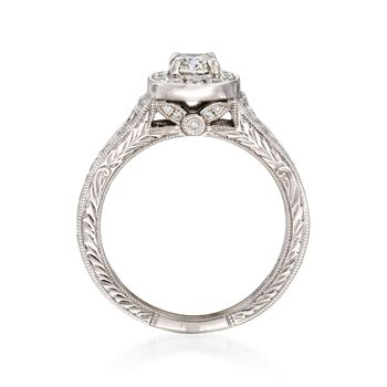 Henri Daussi .90 ct. t.w. Diamond Engagement Ring in 18kt White Gold. Size 6.5, , default