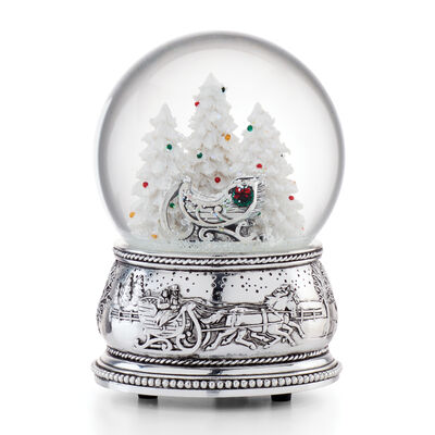 "Reed & Barton ""Winter Traditions"" Sleigh Snow Globe"