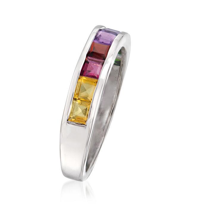.90 ct. t.w. Multi-Gemstone Ring in Sterling Silver