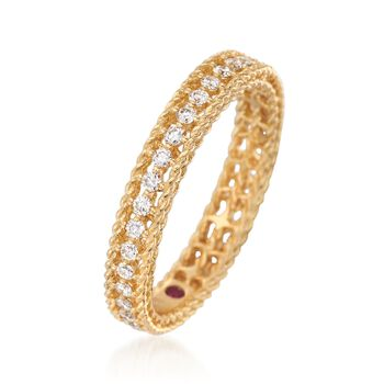 """Roberto Coin .43 ct. t.w. Diamond """"Symphony"""" Princess Ring in 18kt Yellow Gold. Size 7, , default"""