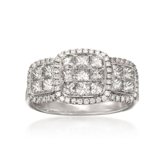 1.36 ct. t.w. Diamond Ring in 18kt White Gold