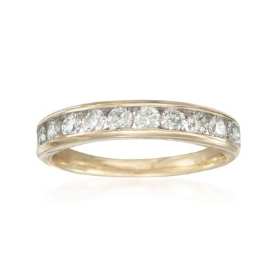 .75 ct. t.w. Diamond Wedding Ring in 14kt Yellow Gold, , default