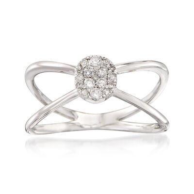 .20 ct. t.w. Diamond Crisscross Ring in 14kt White Gold, , default