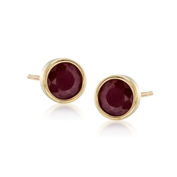 3.60 ct. t.w. Multi-Stone Jewelry Set: Three Pairs of Bezel-Set Stud Earrings in 18kt Gold Over Sterling , , default