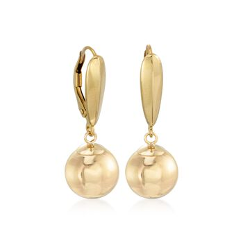 6mm 14kt Yellow Gold Ball Earrings, , default