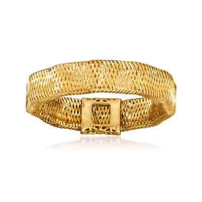 Italian 14kt Yellow Gold Mesh Ring