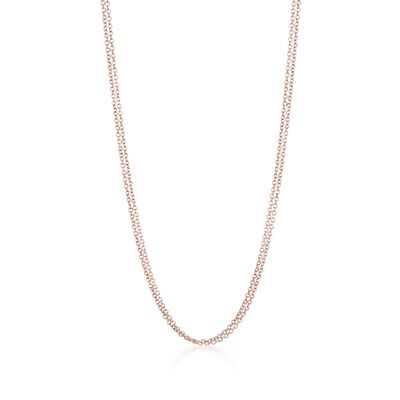 18kt Rose Gold Over Sterling Double-Strand Necklace