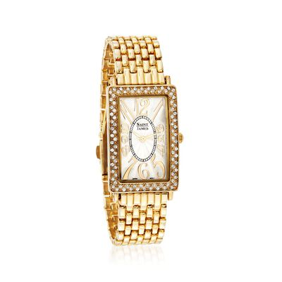 Saint James Women's 40x26mm Goldtone Watch with Rhinestones, , default