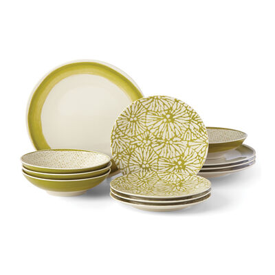 "Lenox ""Market Place Moss"" 12-pc. Dinnerware Set, , default"